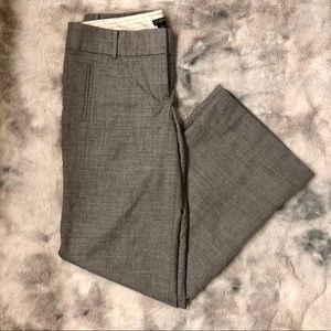 J crew grey city fit flat front trousers size 8